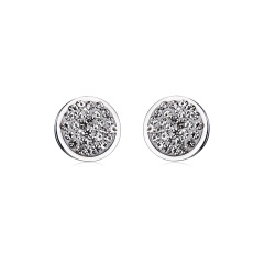 Fashion Silver Round Gold Earrings Ear Stud Round