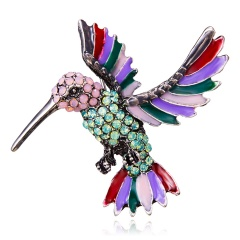 Rinhoo New Fashion Insect Shape Vintage Rhinestone Painting Oil Brooch Colorful Metal Scarf Pins Women Kids Clothes Accessories animal2