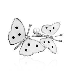 Rhinestone Gold Silver Butterfly Leaf Brooches Women Crystal Enamel Brooch Pins Gifts Butterfly