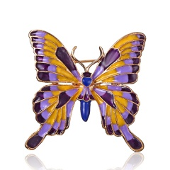 Fashion Butterfly Pearl Stained Drops Brooch Trendy Animal Alloy Rhinestone For Women Best Special Gift For Wedding Brooches butterfly2