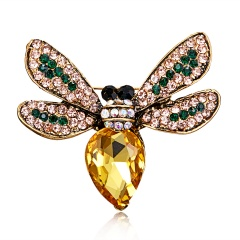 Rinhoo Beautiful pink Butterfly Small Insect Brooch Pins Animal Brooches for Women Decoration Jewelry Accessories For Women Girl bee1