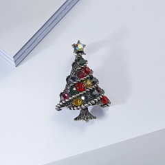 Crystal Christmas Tree Brooch pins Wedding Collar Clip Scarf Buckle Accessory Fashion Jewelry Brooches Best Gift For Women tree1