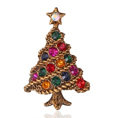 Crystal Christmas Tree Brooch pins Wedding Collar Clip Scarf Buckle Accessory Fashion Jewelry Brooches Best Gift For Women tree2