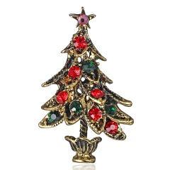 Crystal Christmas Tree Brooch pins Wedding Collar Clip Scarf Buckle Accessory Fashion Jewelry Brooches Best Gift For Women tree4