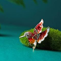 Beautiful Rinestone colorful bird Brooch animal Brooches for wedding women decoration wild Animal Fashion Gold jewelry bird1