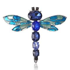 Beautiful Rinestone colorful bird Brooch animal Brooches for wedding women decoration wild Animal Fashion Gold jewelry dragonfly1