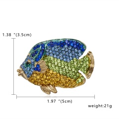 3 Colors Enamel Seahorse Fish Brooches for Women  Animal Brooch Pins  Fashion Jewelry Cloth Accessories Fish 3