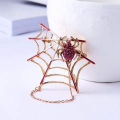 Animal Insects Brooches Jewelry 4Pcs Enamel Spider Brooch Women Kids Coat Suit Clothes Accessories Tree