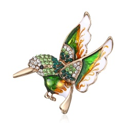 Beautiful Rinestone colorful bird Brooch animal Brooches for wedding women decoration wild Animal Fashion Gold jewelry bird3