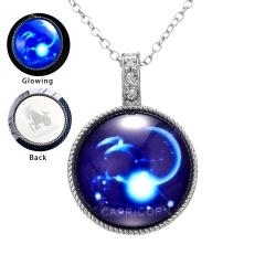 Twelve Constellation Time Gem Pendant Luminous Necklace Capricorn