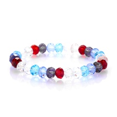 Rinhoo Fashion Colorful Beaded Handmade 8MM Beads Balls Charm Stretchy Elastic Bracelet Bangles Adjustable Jewelry For Men Women Bracelet 2