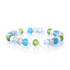Rinhoo Fashion Colorful Beaded Handmade 8MM Beads Balls Charm Stretchy Elastic Bracelet Bangles Adjustable Jewelry For Men Women Bracelet 4