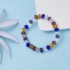Rinhoo Fashion Colorful Beaded Handmade 8MM Beads Balls Charm Stretchy Elastic Bracelet Bangles Adjustable Jewelry For Men Women Bracelet 1