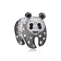 Enamel Cat Panda Giraffe Leopard Brooches for Women Cute Animal Brooch Pin Fashion Jewelry Accessories For Kids Gift Panda