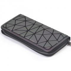 Color-changing Diamond Long Zipper Wallet Glow-out20*2.5*10cm Irregular triangle