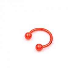 Fashion Titanium Steel C-shaped Ear Bone Nail Ring Nose Body Piercing Jewellery Red
