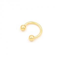 Fashion Titanium Steel C-shaped Ear Bone Nail Ring Nose Body Piercing Jewellery Gold
