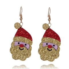Cute Cartoon Deer Snowman Bells Santa Claus Earrings for Women Fashion Handmade Creative Christmas Gift Jewelry Female Brincos Santa Claus