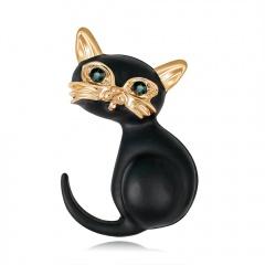 Rinhoo Halloween Animal Pin Brooch Cat Dog Hedgehog Cow Enamel Badge Cute Lapel Pins Kawaii Brooches Animal Jewelry Cat 3