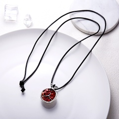 Lovely Fruit Pomegranate Pendant Necklace Sweater Chain Best Gift Pomegranate