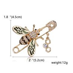 Women Delicate Little Bee Brooches Shiny Crystal Rhinestone Pin Brooch Enamel Brooches Jewelry Gifts For Women Men Brooch Bee 1