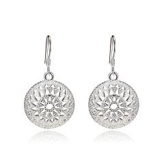 Glossy Large Circle Ear Buckle Earrings Women Jewelry Gift 3