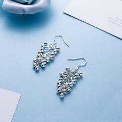 Drop Ear Hook Fashion Women Earrings Jewelry Sliver