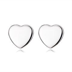Fashion Simple Heart Round Pierced Earrings Heart