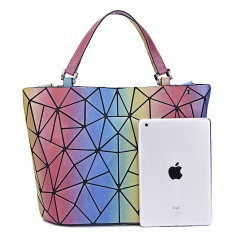 Wholesale MUSAA Rainbow Bag Diagonal Span Bag Geometric Rhombic Color Color Folding Women Bag38*26*13cm colours