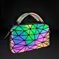 Geometric Ringer Luminous Hand Dazzle Color Makeup Bag Storage Bag26*15*13.5cm colours