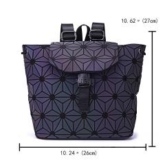 Geometric Diamond Noctilucent Backpack Flower