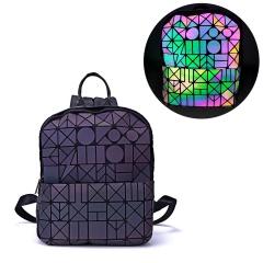 Geometric Ringer Backpack Rravel Storage Bag Zipper Bag 23.5*11.5*29cm Irregular triangle style