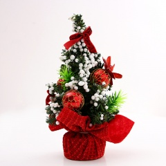 20cm Mini Christmas Tree Desk Table Decoration Gift Home Decor Decorations Xmas Red