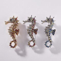 3 Colors Enamel Seahorse Fish Brooches for Women  Animal Brooch Pins  Fashion Jewelry Cloth Accessories Fish 5