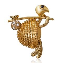 Women's Owl Turtle Dog Animals Rhinestone Gold Brooch Pins Gifts Turtle