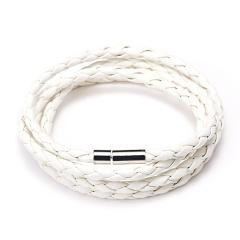 Rinhoo 2019 New Popular 5 Laps Leather Bracelet Jewelry for Men Charm Vintage Black Punk Bracelet & Bangle Free Shipping White
