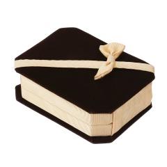 Octagonal Bowknot Jewelry Necklace Packaging Box Khaki(10*7.5*3.5cm)
