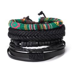 RINHOO Vintage Leather Bracelets for Men Bohemia Multilayer Beads Wrap Punk Rope Jewelry Valentine's Day Gift Bracelets Bangles Bracelet3