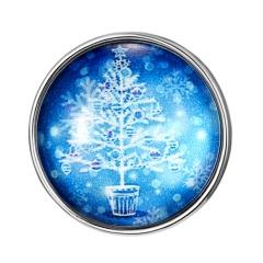Snowman Tree Christmas Time Gemstone Button Bracelet Accessories Snowflake Christmas Tree