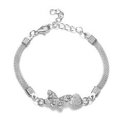 RINHOO 925 Silver Jewelry Bracelets For Women Fashion Bangle Wedding Banquet Butterfly Owl Key Flower Dragonfly Cross Bracelets Bracelet 3