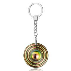 Round Crystal Keychain Round