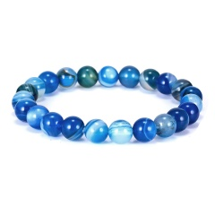 High Quality Natural Stone Colorful Beaded Bracelet Classic Elasticity Rope Yoga Bracelet For Men Women Best Friend Jewelry Gift Bracelet 3