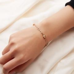 Rinhoo Simple Chain Bracelets Metal Bead Link Chain Charm Bracelets for Women Fashion Party Jewelry Gift matte bead