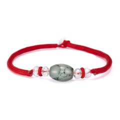 Fashion Handmade Crystal Beads Charm Bracelets For Women Men Lucky String Rope Red Couple Bracelet Gifts pulseras mujer bead 3