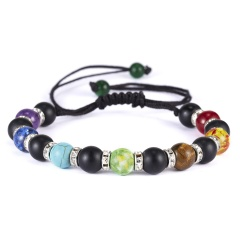 2019 Newst 7 Chakra Bracelet Men Black Lava Healing Balance Beads Reiki Buddha Prayer Natural Stone Yoga Bracelet For Women chakra bracelet  5