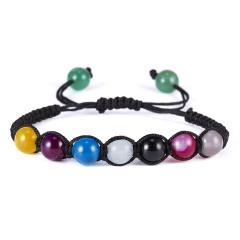 2019 Newst 7 Chakra Bracelet Men Black Lava Healing Balance Beads Reiki Buddha Prayer Natural Stone Yoga Bracelet For Women chakra bracelet  6