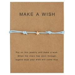 Star Charm Bracelet Adjustable Rope String Lucky Bracelet Star For Women Men Lovers Bead Vintage Jewelry Blue