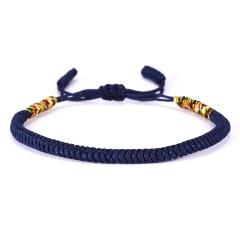 RINHOO Vintage Tibetan Buddhist Love Lucky Charm Tibetan Bracelets & Bangles For Women Men Handmade Knots Rope Budda Bracelet Blue