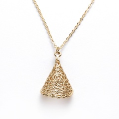 Women Gold Palm Pendant Necklace Clavicle Chain Choker Paper Card Jewelry Gifts All is well