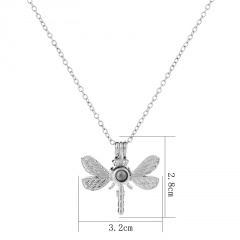 Charm Glow In The Dark Dragonfly Animal Pendant Necklace Luminous Women Jewelry Dragonfly-Blue